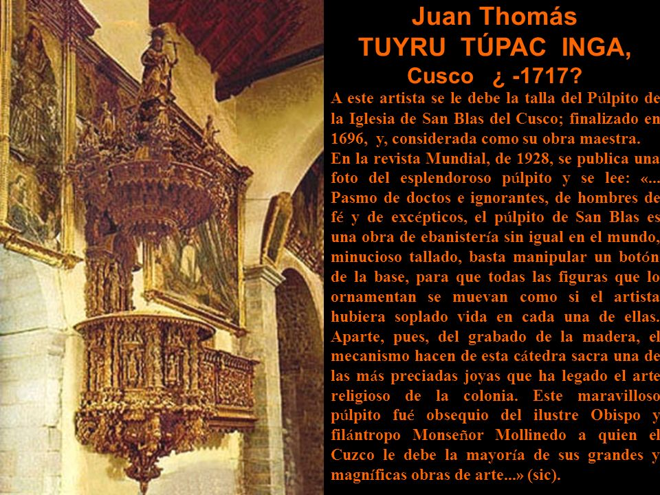 Juan Thomás TUYRU TÚPAC INGA,
