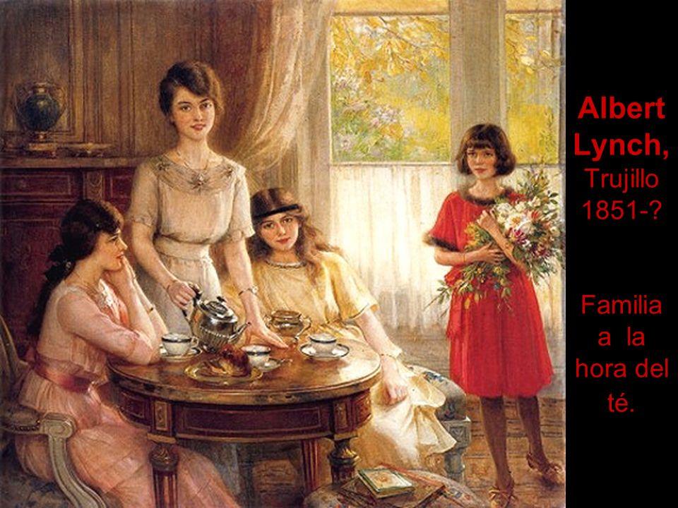 Albert Lynch, Trujillo 1851- Familia a la hora del té.