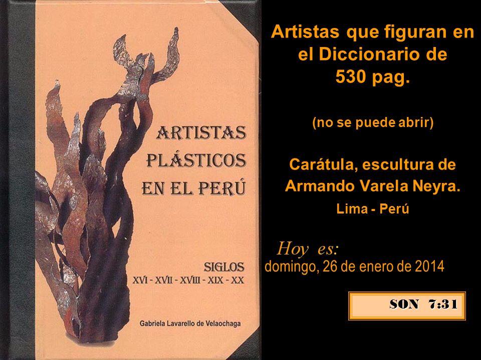 Artistas que figuran en el Diccionario de 530 pag