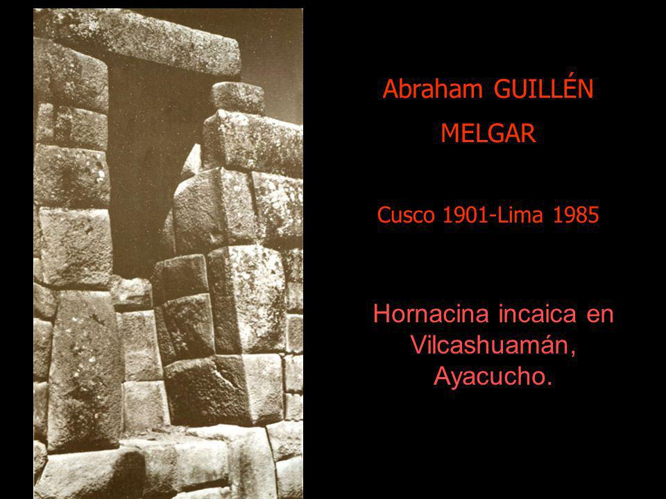 Abraham GUILLÉN MELGAR Cusco 1901-Lima 1985
