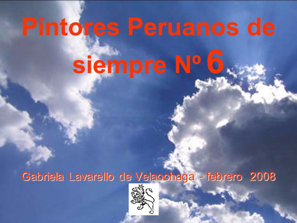 Pintores Peruanos de siempre Nº 6