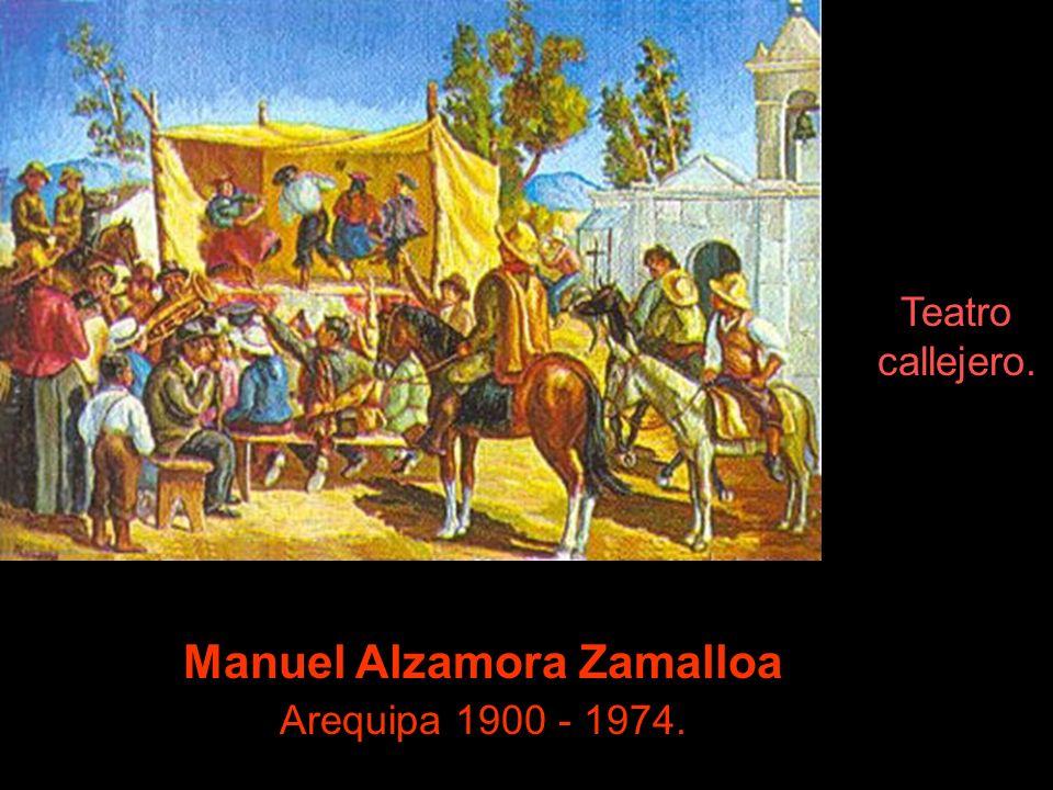Manuel Alzamora Zamalloa Arequipa 1900 - 1974.