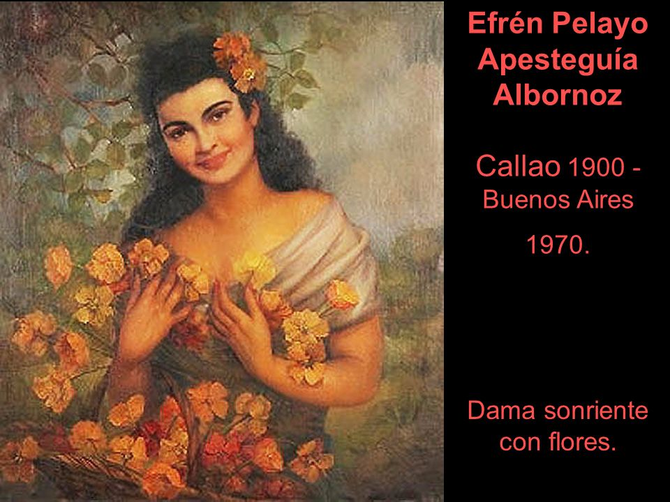 Efrén Pelayo Apesteguía Albornoz Callao 1900 - Buenos Aires 1970.