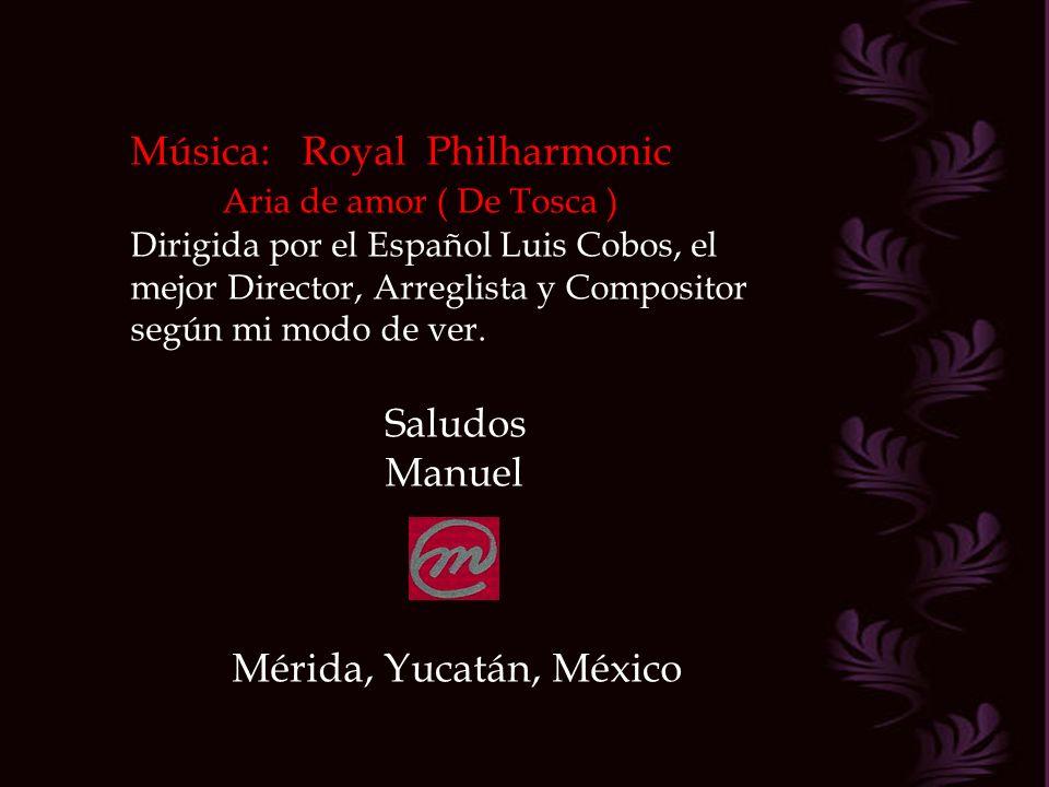 Música: Royal Philharmonic Aria de amor ( De Tosca )