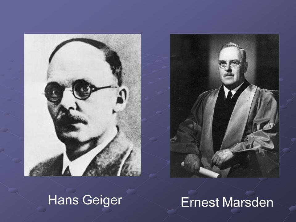 Hans Geiger Ernest Marsden