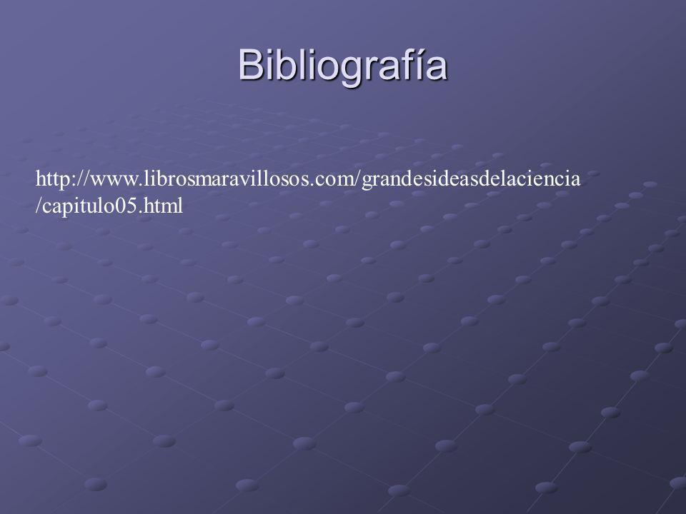Bibliografía http://www.librosmaravillosos.com/grandesideasdelaciencia/capitulo05.html