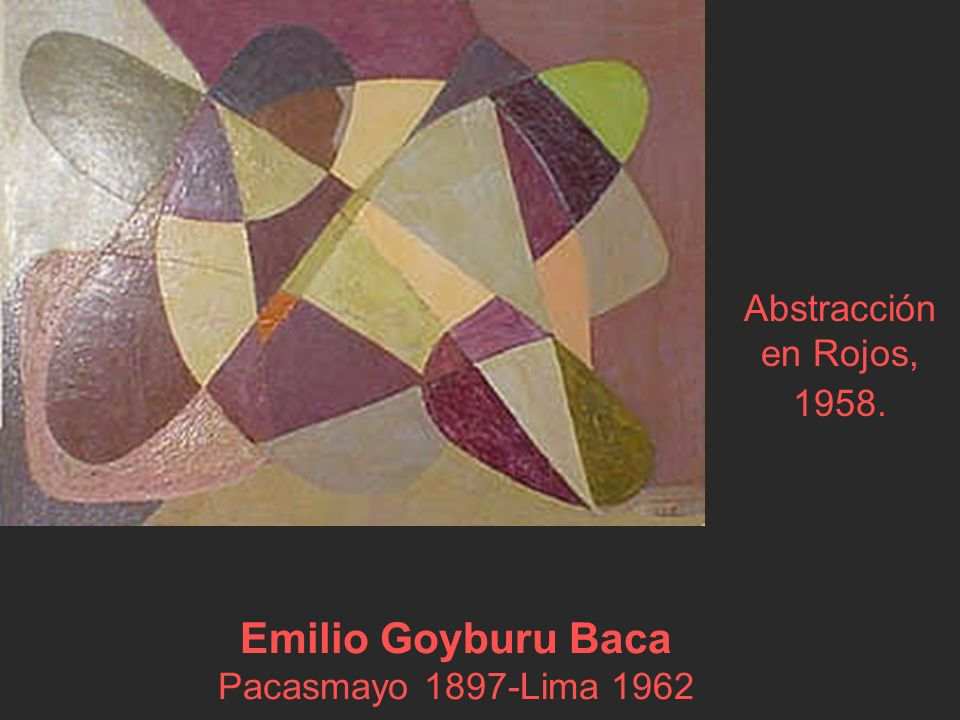 Emilio Goyburu Baca Pacasmayo 1897-Lima 1962