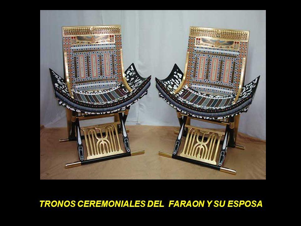 TRONOS CEREMONIALES DEL FARAON Y SU ESPOSA