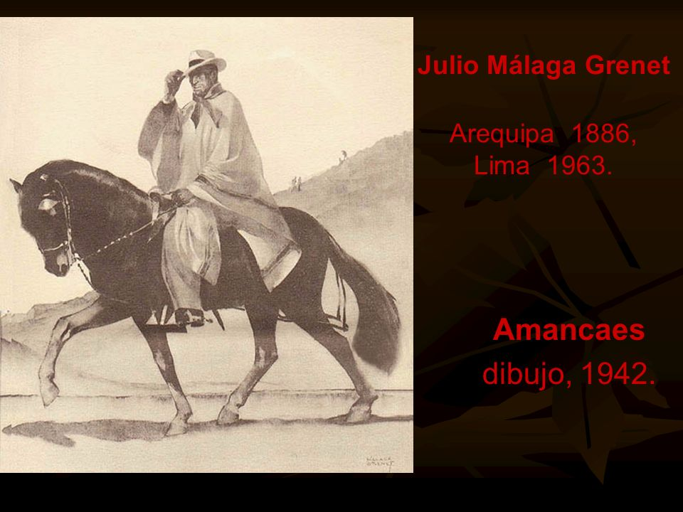 Julio Málaga Grenet Arequipa 1886, Lima 1963.