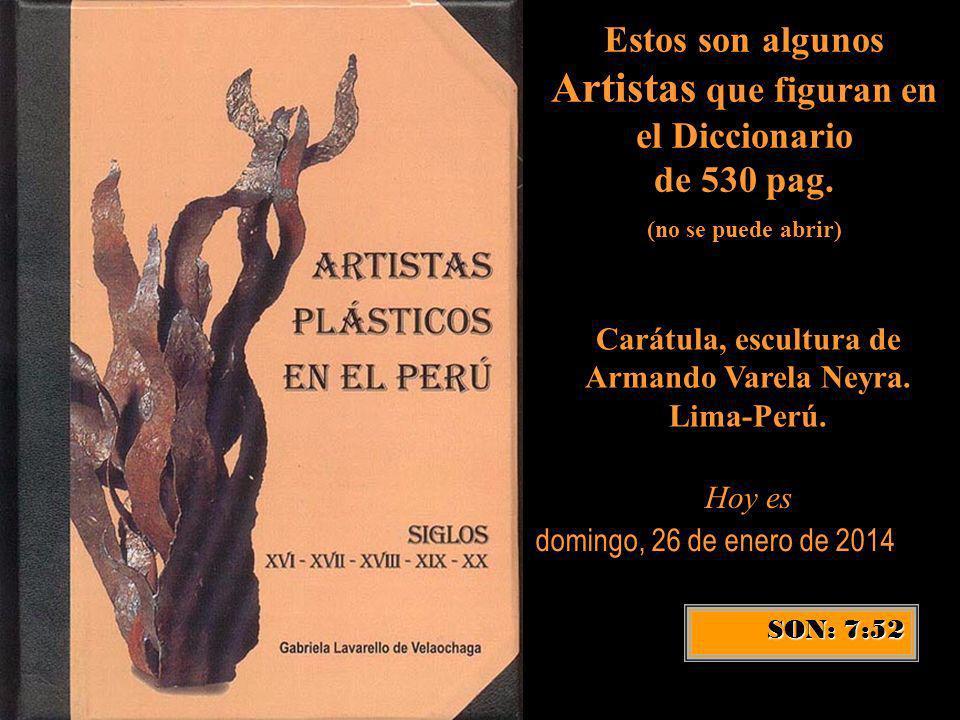 Carátula, escultura de Armando Varela Neyra. Lima-Perú.