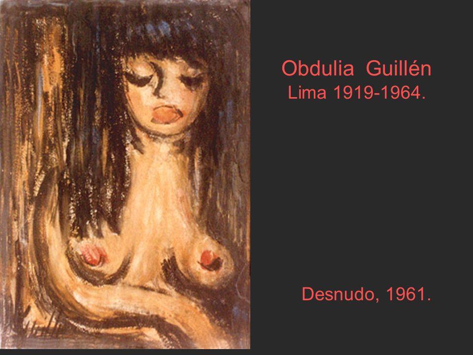 Obdulia Guillén Lima 1919-1964. Desnudo, 1961.