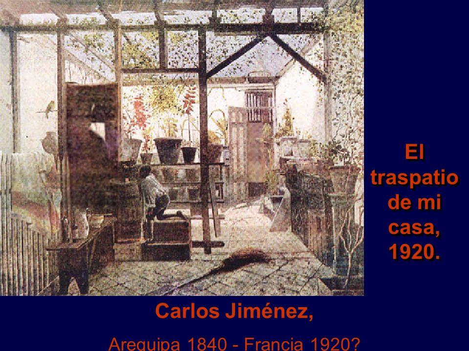Carlos Jiménez, Arequipa 1840 - Francia 1920