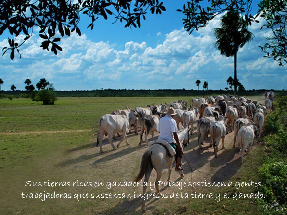 Sus tierras ricas en ganadería y Paisaje sostienen a gentes trabajadoras que sustentan ingresos de la tierra y el ganado.