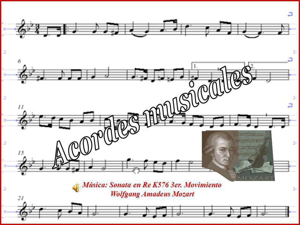 Acordes musicales Música: Sonata en Re K576 3er. Movimiento