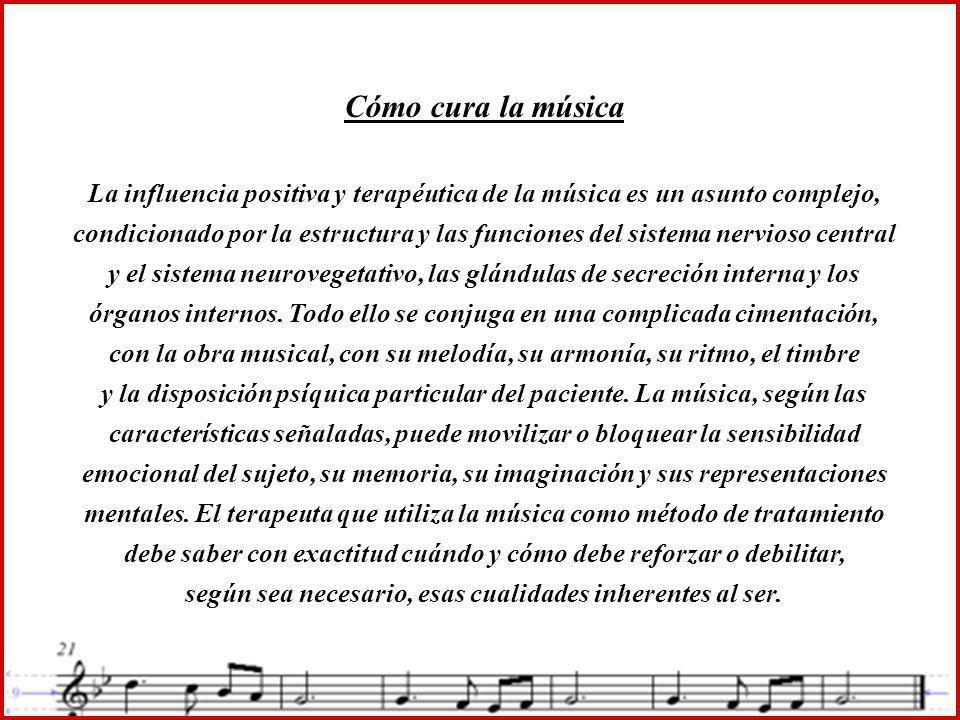 Cómo cura la música