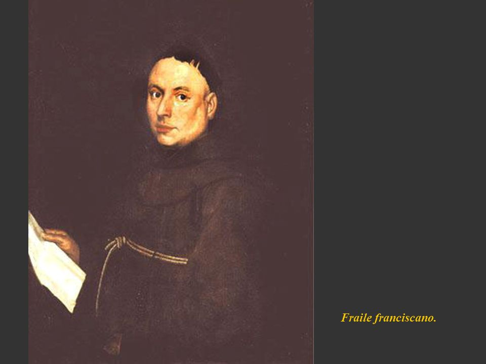 Fraile franciscano.