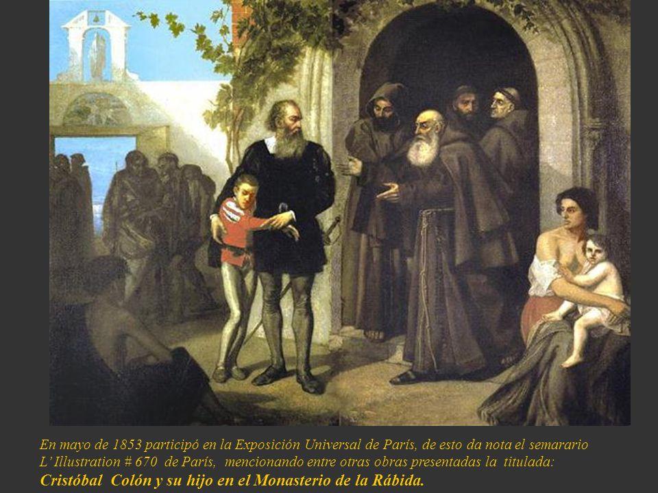 Cristóbal Colón y su hijo en el Monasterio de la Rábida.