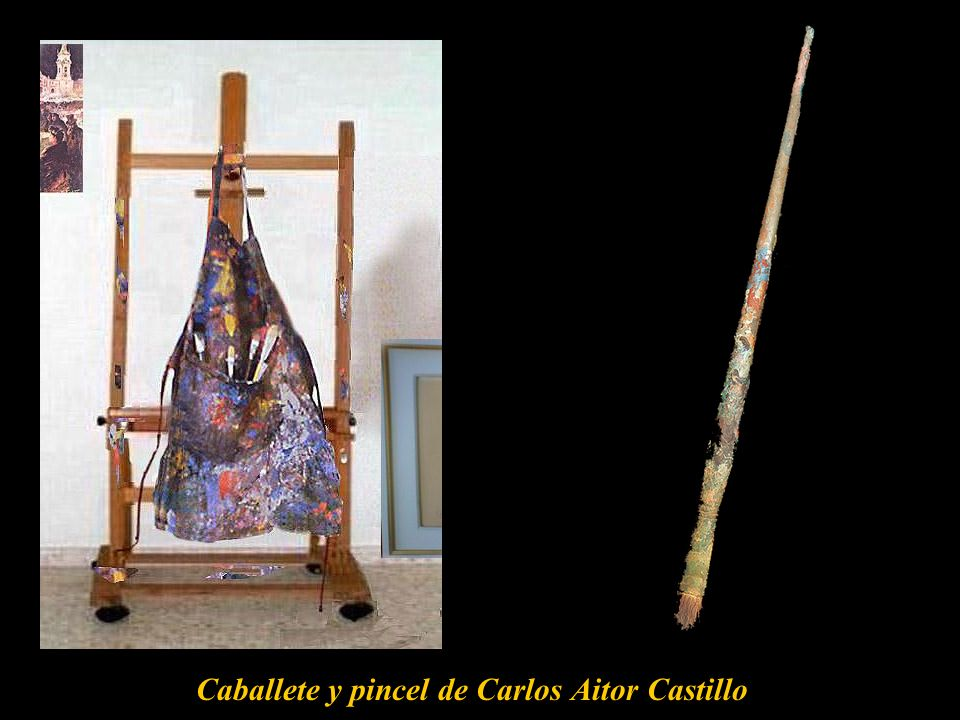Caballete y pincel de Carlos Aitor Castillo