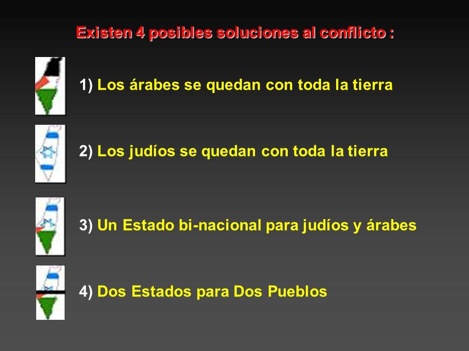 Existen 4 posibles soluciones al conflicto :
