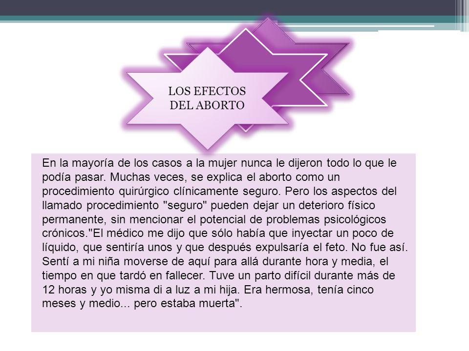 LOS EFECTOS DEL ABORTO