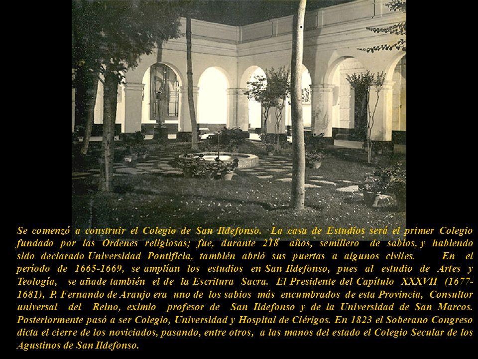 Se comenzó a construir el Colegio de San Ildefonso