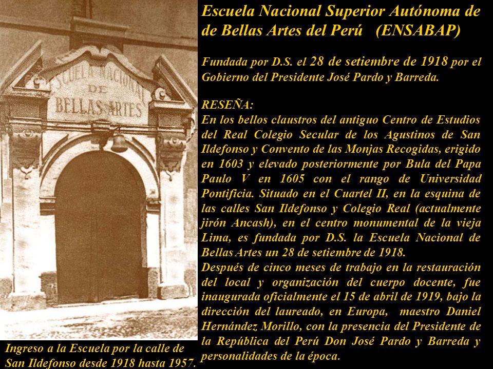 Escuela Nacional Superior Autónoma de de Bellas Artes del Perú (ENSABAP)