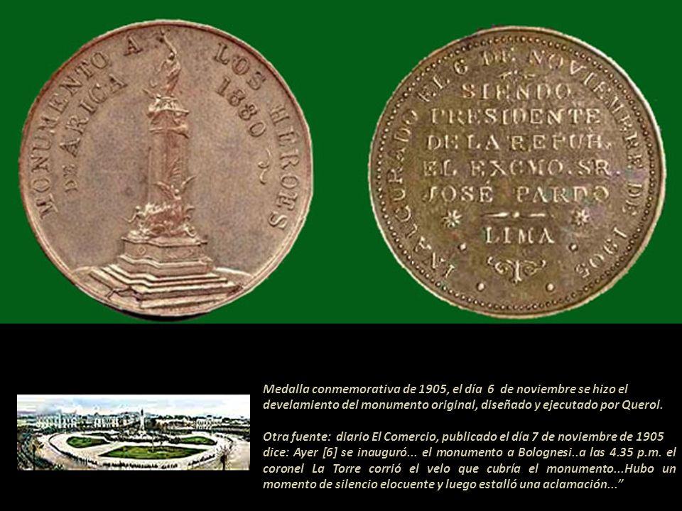 Medalla conmemorativa de 1905, el día 6 de noviembre se hizo el
