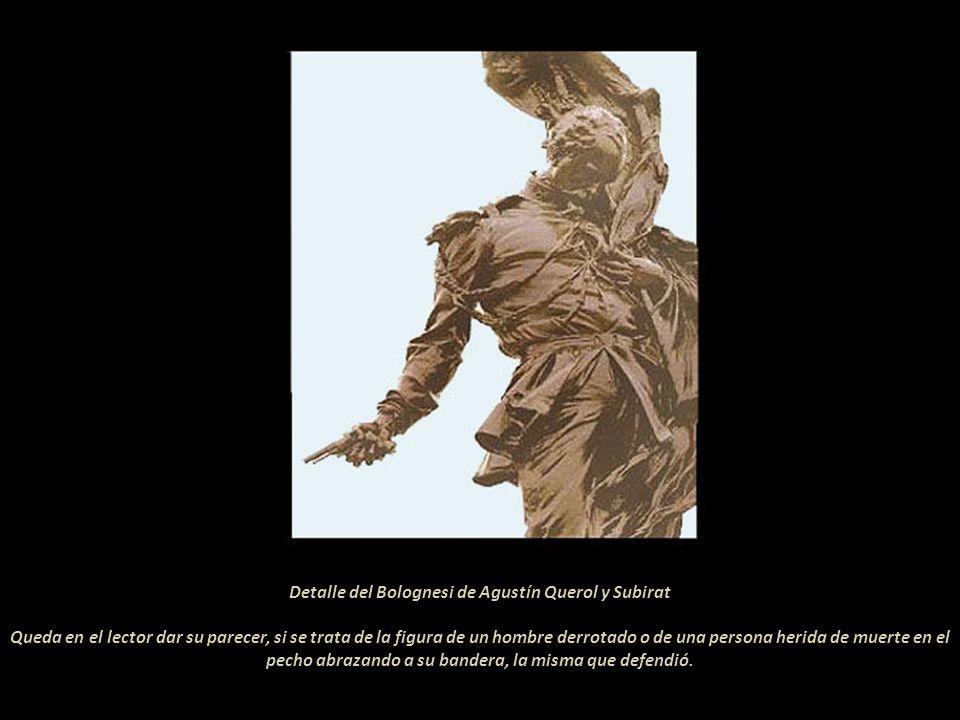 Detalle del Bolognesi de Agustín Querol y Subirat