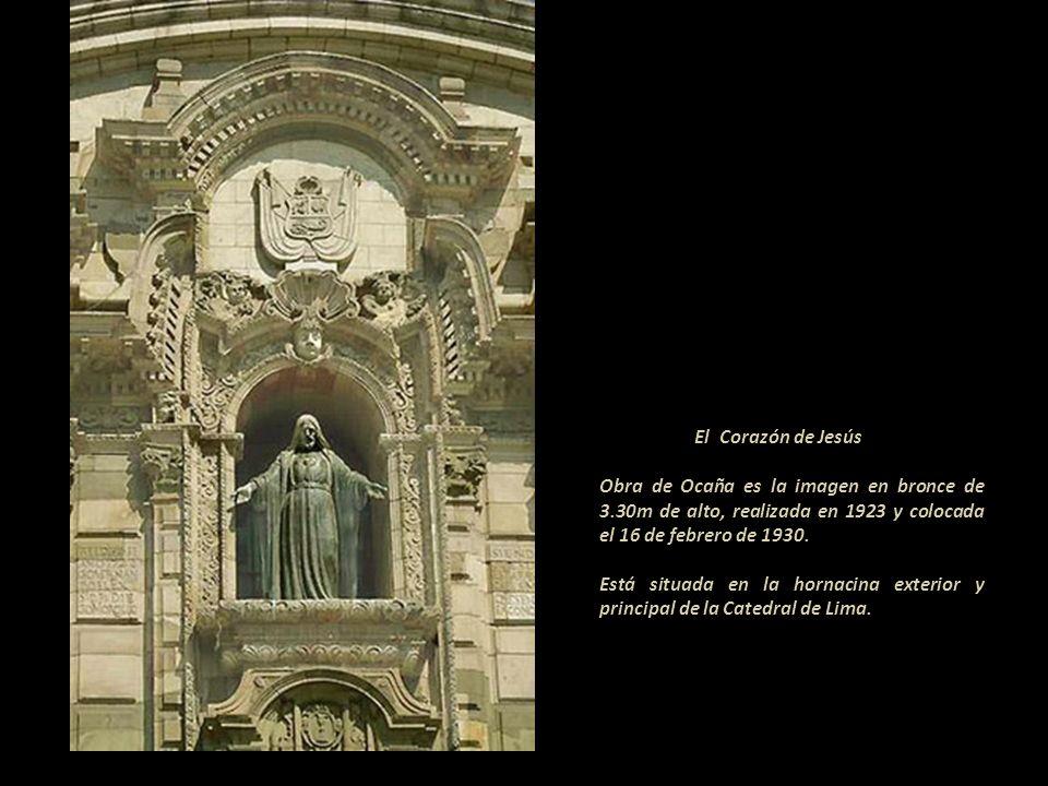 El Corazón de JesúsObra de Ocaña es la imagen en bronce de 3.30m de alto, realizada en 1923 y colocada el 16 de febrero de 1930.