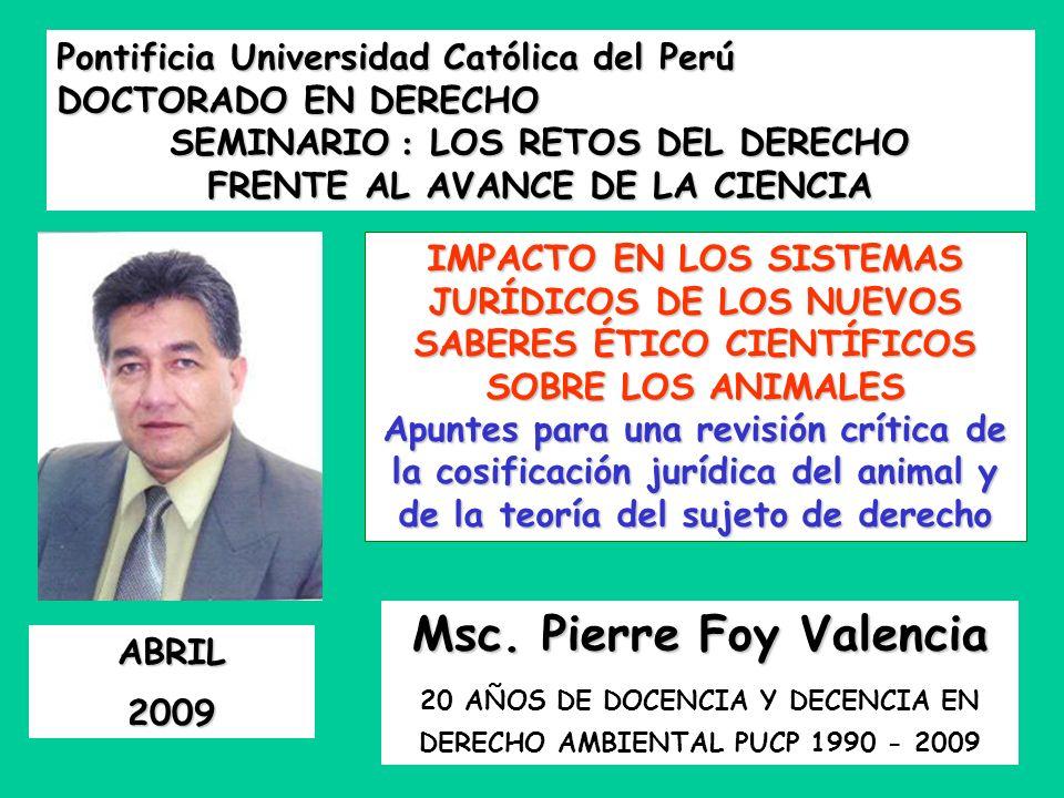 Msc. Pierre Foy Valencia