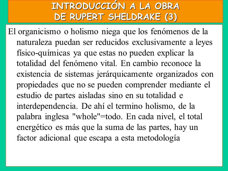INTRODUCCIÓN A LA OBRA DE RUPERT SHELDRAKE (3)