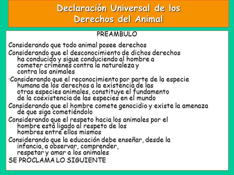 Declaración Universal de los Derechos del Animal