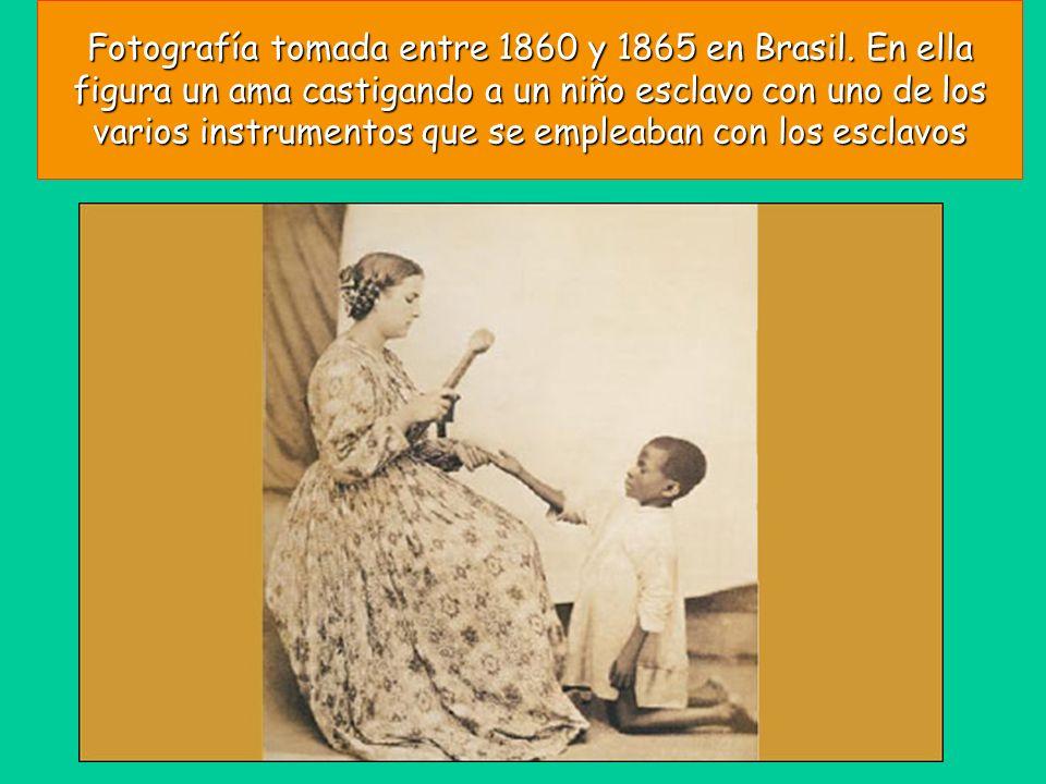 Fotografía tomada entre 1860 y 1865 en Brasil