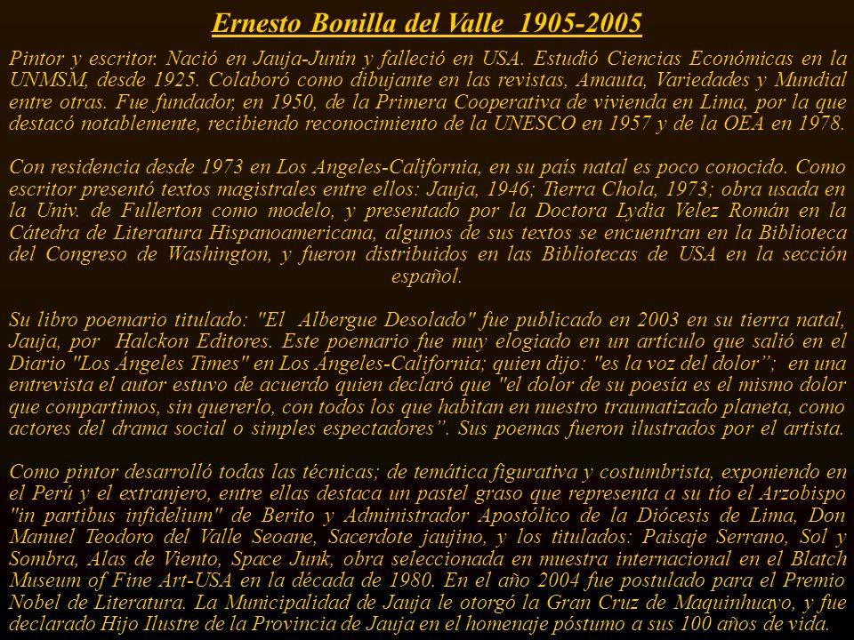Ernesto Bonilla del Valle 1905-2005