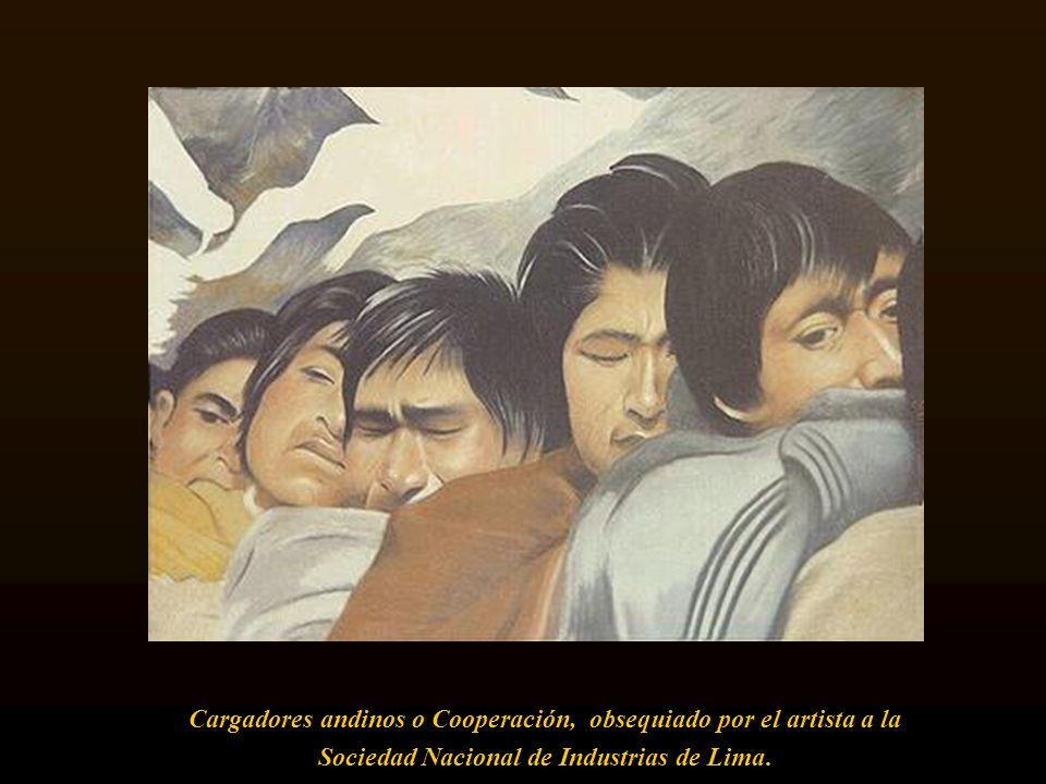 Cargadores andinos o Cooperación, obsequiado por el artista a la