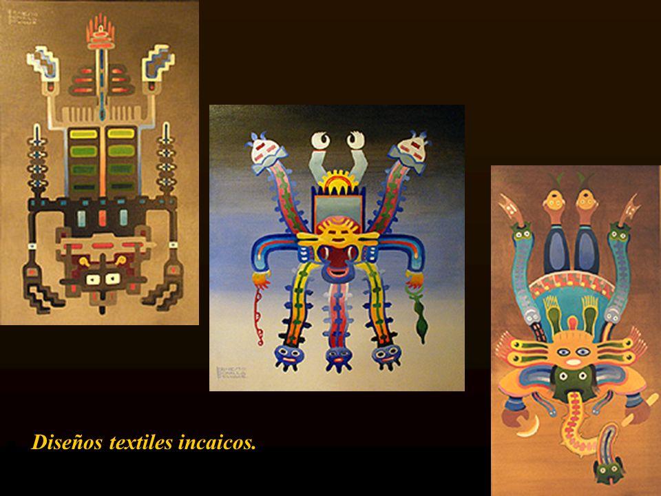 Diseños textiles incaicos.