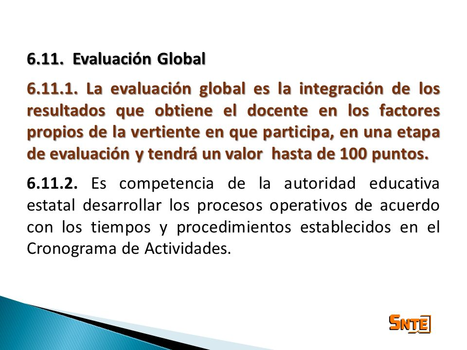 6.11. Evaluación Global
