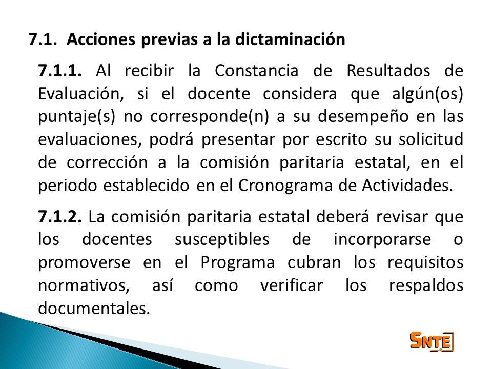 7.1. Acciones previas a la dictaminación