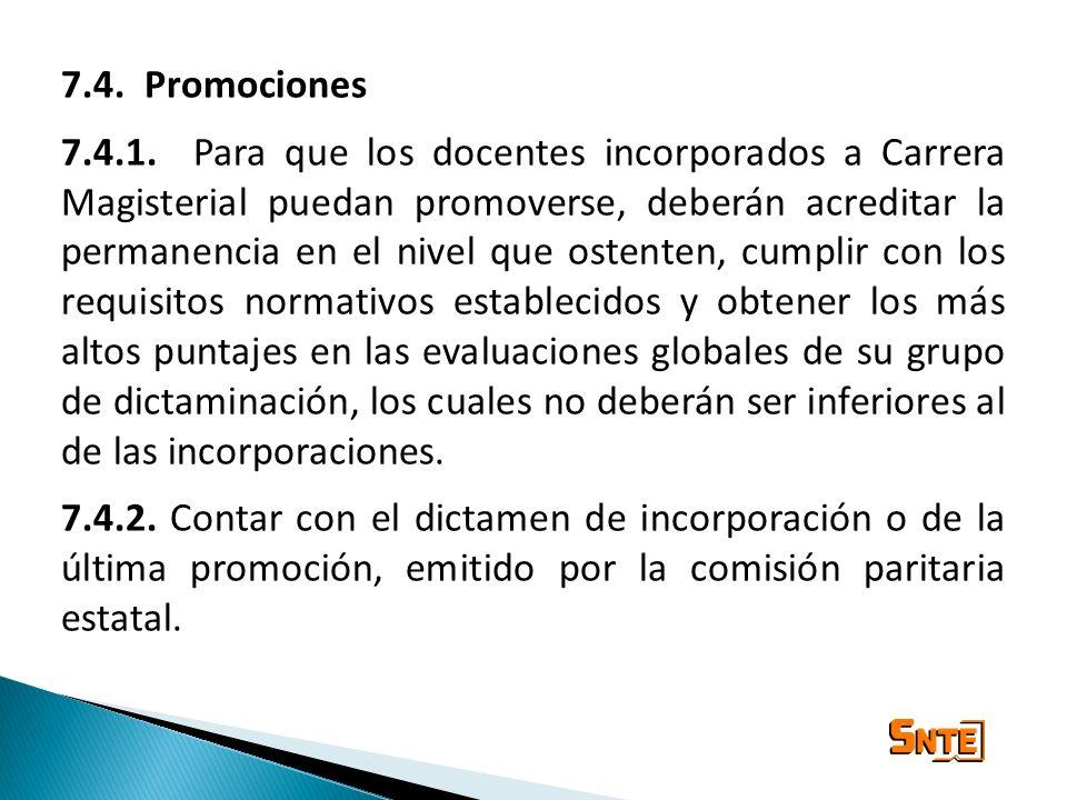 7.4. Promociones