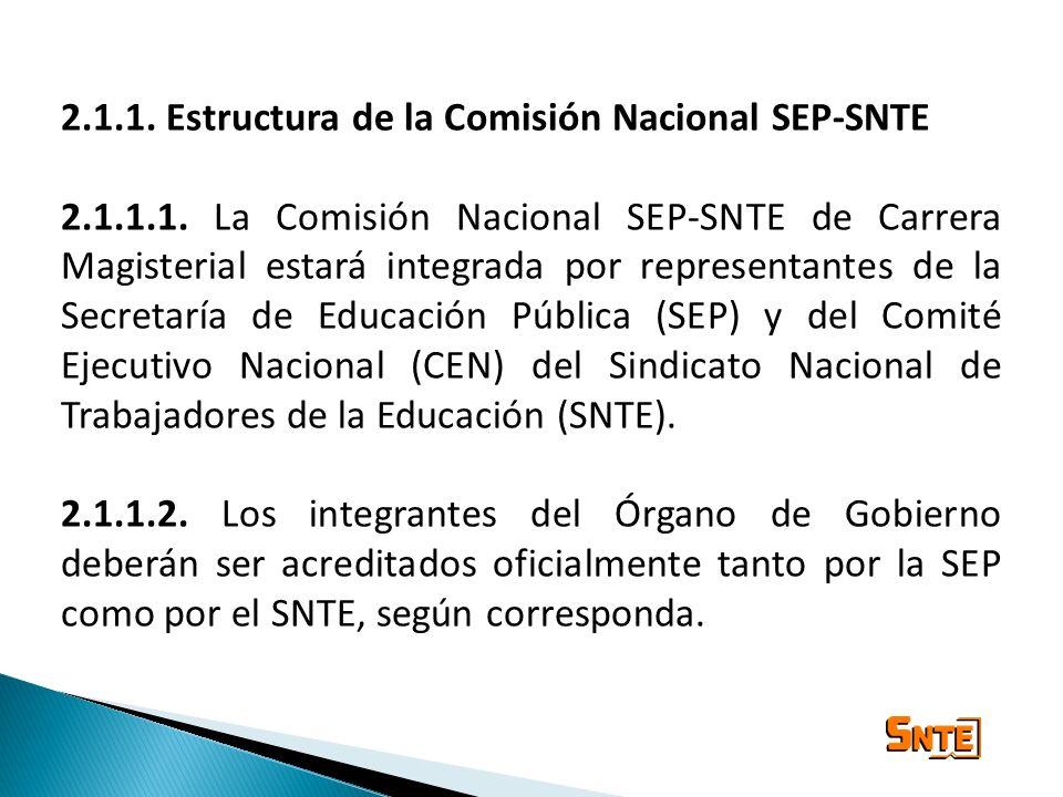 2.1.1. Estructura de la Comisión Nacional SEP-SNTE