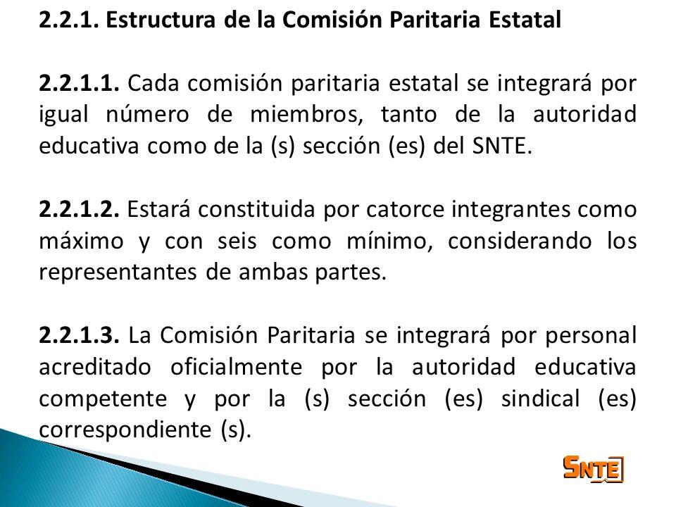 2.2.1. Estructura de la Comisión Paritaria Estatal