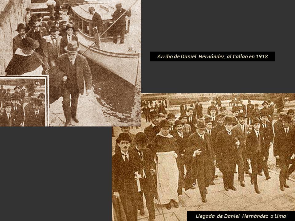 Arribo de Daniel Hernández al Callao en 1918