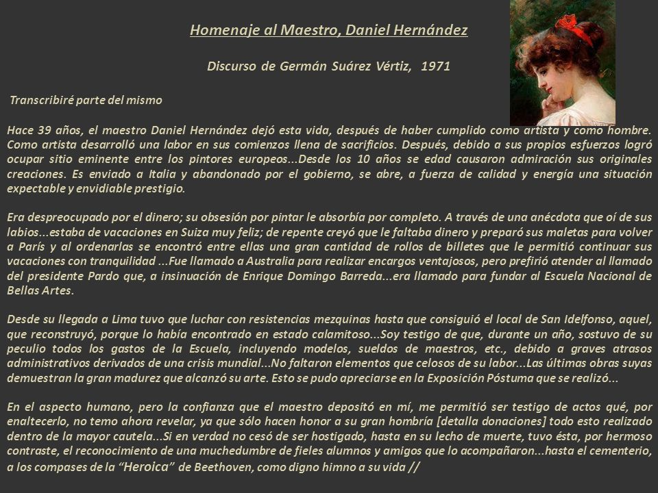 Homenaje al Maestro, Daniel Hernández