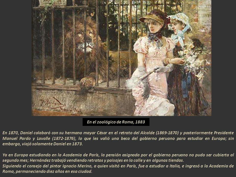 En el zoológico de Roma, 1883