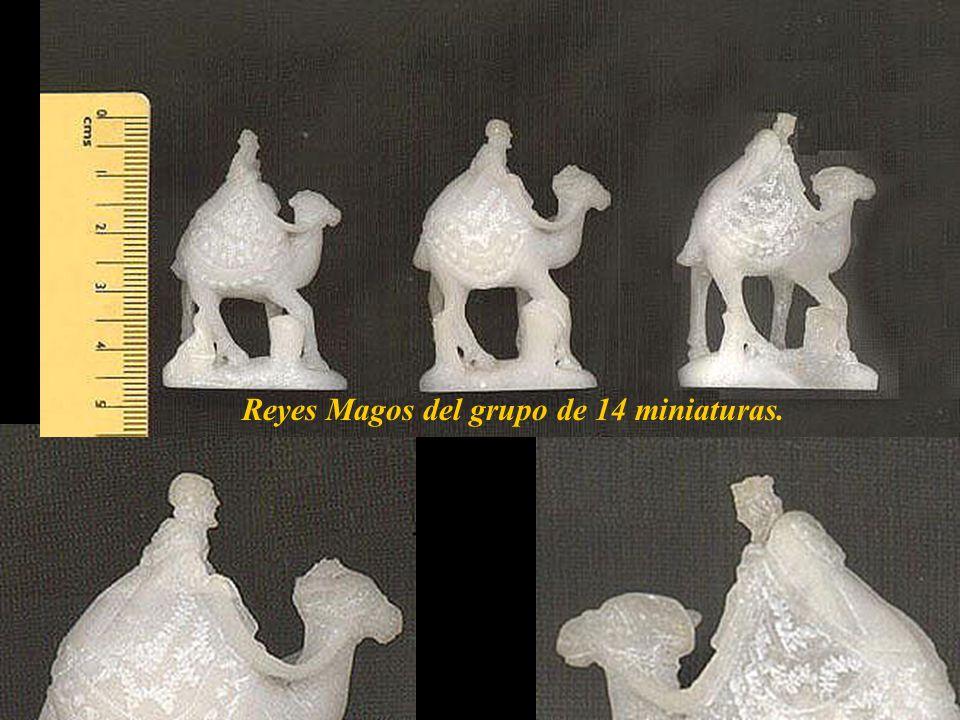 Reyes Magos del grupo de 14 miniaturas.