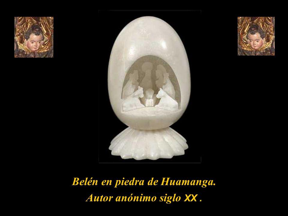 Belén en piedra de Huamanga.