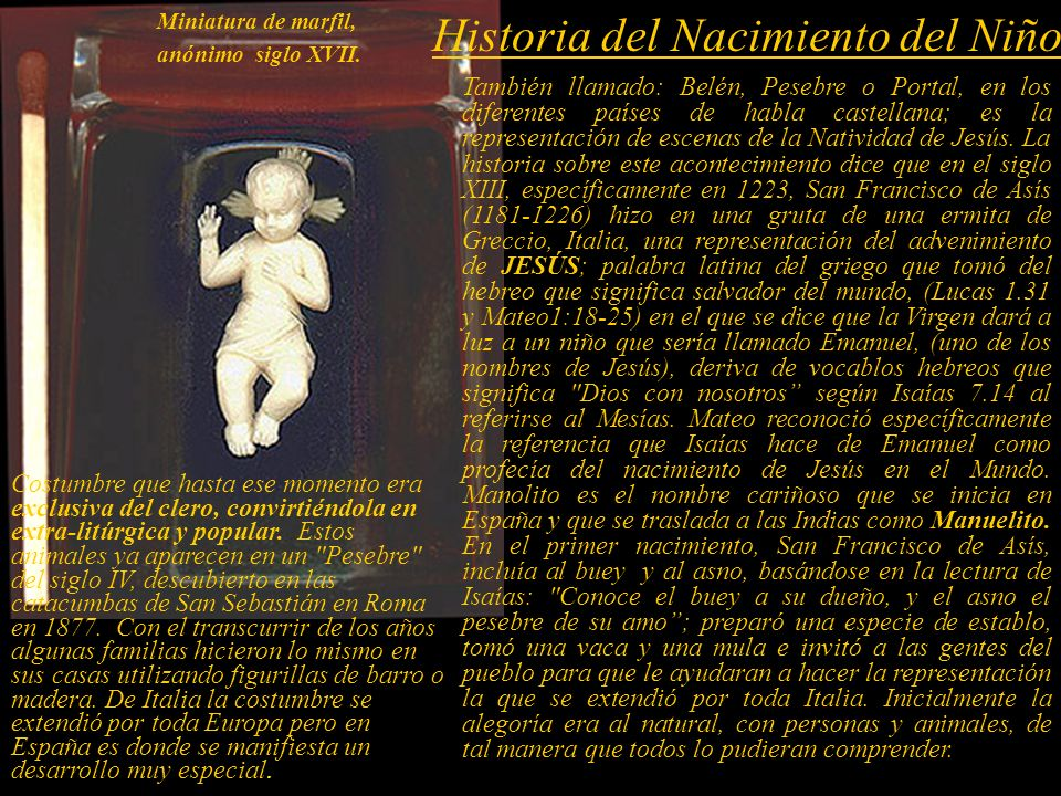 Historia del Nacimiento del Niño