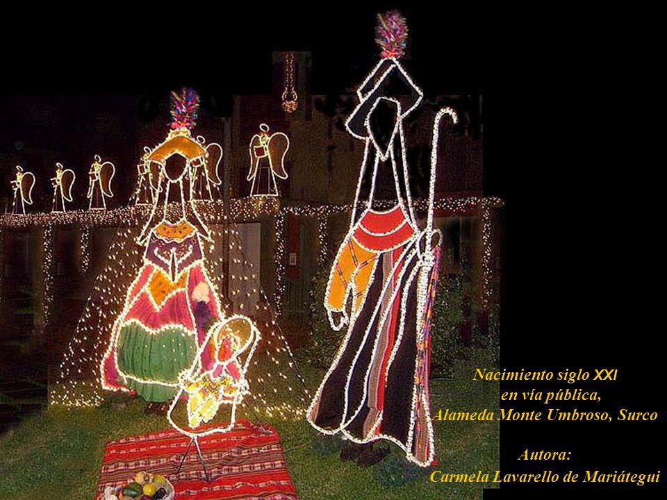 Nacimiento siglo XXI en vía pública, Alameda Monte Umbroso, Surco Autora: Carmela Lavarello de Mariátegui