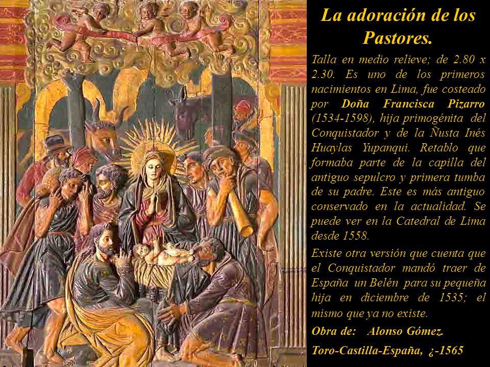 La adoración de los Pastores.