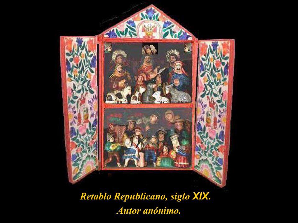 Retablo Republicano, siglo XIX.